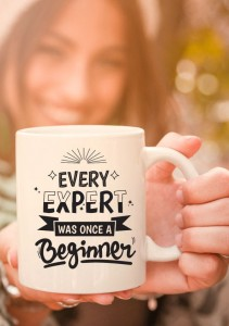 kubek z nadrukiem Every Expert Was Once A Beginner